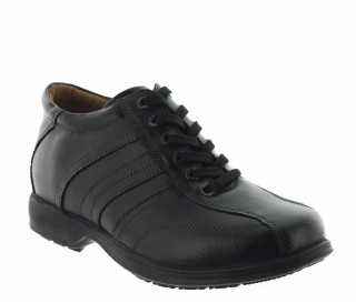 Carrara Height Increasing Shoes Black +7cm