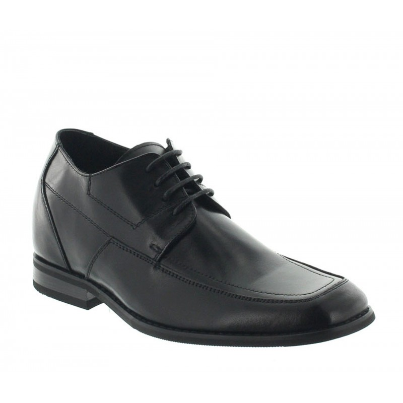 Elevator Derby Shoes Men - Black - Leather - +2.4'' / +6 CM - Brighton - Mario Bertulli