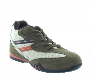Elevator Sports Shoes Men - Kaki - Nubuk / Leather - +2.6'' / +6,5 CM - Loreto - Mario Bertulli