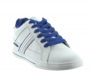 Veneto Height Increasing Sports Shoes White +5.5cm