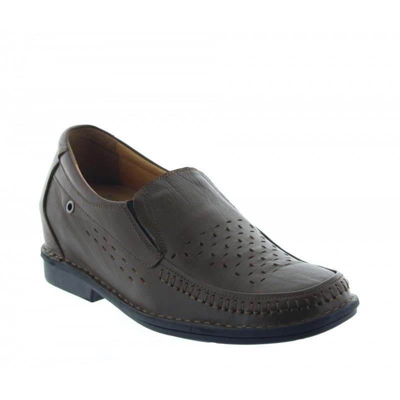 Elevator Loafers Men - Brown - Leather - +2.8'' / +7 CM - Ragusa - Mario Bertulli