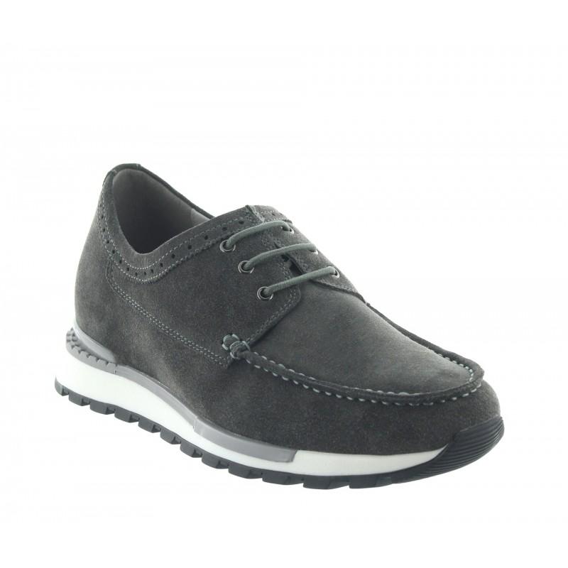 Elevator Sneakers Men - Dark gray - Nubuk - +2.8'' / +7 CM - Vernio - Mario Bertulli