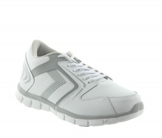 Biella height increasing sport shoes in white