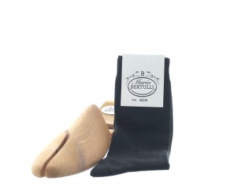 BLACK COOTTON STRETCH SOCKS
