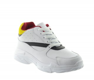 Monticiano Height Increasing Sport Shoes White +7cm